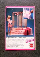 I012-Advertising Pubblicità-1986- BARBIE , BAGNO O DOCCIA ? , MATTEL