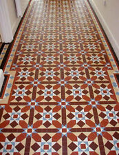 VICTORIAN OLD ENGLISH ORIGINAL STYLE FLOOR TILES GRASMERE MULTICOLOURED