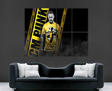 CM PUNK WWE POSTER WRESTLING WRESTLER  SPORT PICTURE WALL ART GIANT HUGE