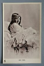 R&L Postcard: Edwardian Girl in Bed Tired, Tuck Golden Childhood Glosso