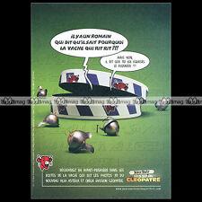 ASTERIX & Fromage VACHE QUI RIT Mission Cléopatre 2001 Pub / Publicité / Ad #A23