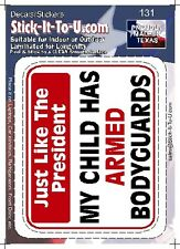 My Child Has A Armed Body Guard – Decal Sticker gun