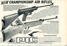 1972 small Print Ad of Precise Imports PIC El Gamo Model 68 Target Air Rifle