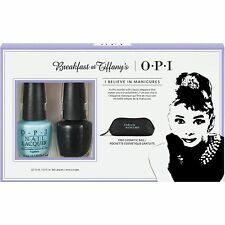 OPI Breakfast At Tiffany's 2016 Nail Polish Set + Cosmetic Bag - NIB