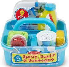 Melissa & Doug SPRAY, SQUIRT & SQUEEGIE SET Pretend Play Cleaning Caddy BN