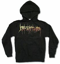 """JOB FOR A COWBOY """"BROWN LOGO"""" BLACK PULLOVER HOODIE SWEATSHIRT NEW ADULT SMALL"""
