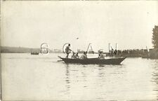 WWI German Real Photo PC- Combat Engineers- Pioneers- Pontoon Bridge Boat