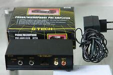 B-Tech BT26 Mikrofon/Phono Vorverstärker Pre-Amplifier Phonoverstärker +Zubehör