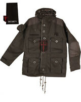 Security military SAS (Smock Parker combat tactical) black assault hood jacket