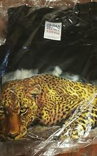 Leopard Graphic  Mens  Large Shirt, New, Sealed
