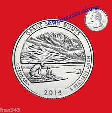 ESTADOS UNIDOS USA quarter dollar 2014 D GREAT SAND DUNES COLORADO UNC