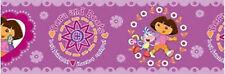 "Dora the Explorer ""Dora and Boots best friends"" peel & stick Wallpaper Border"