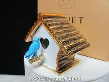 "Rare 2011  MONET ""BIRD HOUSE"" Collectible Enamel Trinket Box  ** New In Box **"