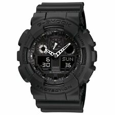 DEAL OF THE DAY NEW CASIO G-SHOCK GA100-1A1 CLASSIC SERIES ANA-DIGI BLACK