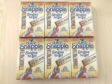 6 boxes Diet Snapple Straight Up Tea Iced Tea Mix Singles to go Total 36 Packets