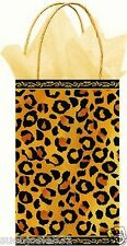 Cheetah Spots Brown Paper Gift Bag 1ct Gift Wrap Party Supplies