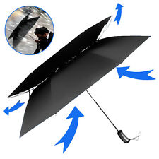 Portable Travel Umbrella Auto Open And Close Vented Wind Resistant Double Canopy