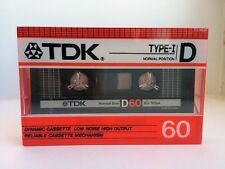 TDK D 60 BLANK AUDIO CASSETTE TAPE NEW RARE 1986 YEAR JAPAN MADE KIND #2