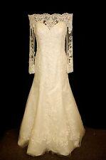 Ronald Joyce Designer Wedding Dress 69066 Eugenia Ivory Lace Size 18 RRP £1699