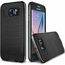 Verus Iron Shield Hybrid Frame Case Cover for Samsung Galaxy S6 Titanium Silver