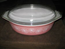 Pyrex 045 Pink Daisy  2 1/2 qt Casserole with Lid