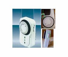 TIMER regolabile risparmio energetico.220V.energia,corrente,24h.Per TV,modem,ecc