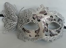 Butterfly Masquerade Face Mask - Black and Silver - *NEW* Express Post Option