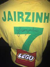 Signed Rare Brazil Numbered Promo 1970 Home Shirt Jairzinho