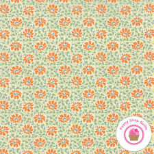 Moda SOMERSET Creme Persimmon 20232 17 Fig Tree FABRIC BY THE HALF YARD