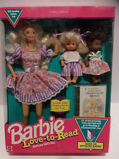 Vintage Barbie Love To Read Limited Edition Deluxe Gift Set w Golden Book NIB