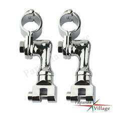 Motorcycle Scooter ATV Bike Offset Foot Peg Foot Rest Clamps For Harley Bobber