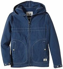 BNWT QUIKSILVER WARWICH YOUTH BOYS BLUE HOODED PARKA SPRING JACKET XS 8 YEARS