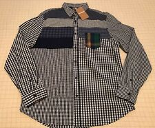 Desigual Long Sleeve Blue Plaid Button Front Cotton Shirt Men's L / (XL EU) NWT