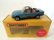 Matchbox Superfast 39d BMW 323i Cabriolet - Met Blue  - JAPANESE BOX
