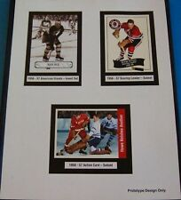 1956-57 Parkhurst Promo Card Hockey Sheet Gordie Howe