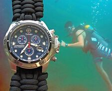 NEW!! Timex Expedition Dive Watch w/ EXTRA WIDE Paracord 550 Watch Band