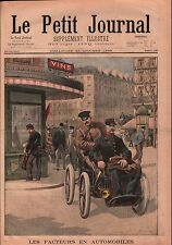 Facteurs Automobile Voiture La Poste Grand Boulevard Paris 1899 ILLUSTRATION
