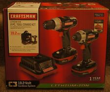 New! Craftsman C3 Li-Ion 19.2 Volt Drill and Impact Driver Combo (Model: 7286)