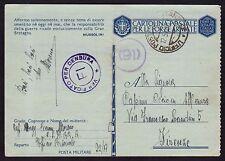 POSTA MILITARE 1942 Franchigia da PM 22 a Firenze (M8)