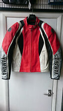 YAMAHA GIACCA IN PELLE ROSSA NERA DAINESE SIZE 54