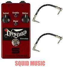 SEYMOUR DUNCAN DIRTY DEED DISTORTION OVERDRIVE PEDAL ( 2 FENDER PATCH CABLES )