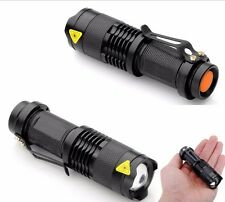 TORCIA SOFTAIR TATTICA A LED 5000 LUMENS XENON ZOOM RICARICABILE litio MILITARE