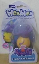 Peppa Pig Weebles serie 3 ~ Emily Elefante Wobbily Figura