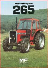 French Original  Prospect  Tracteur Tractor Massey Ferguson MF 265_ 2 pages