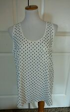 Ann Taylor Loft Blue and White Blouse Size Large New