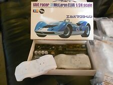 ONE VINTAGE mclaren elva TAMIYA SLOT CAR  BODY KIT WITH PARTS TREE  MINT IN BAG