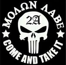Molan Labe Punisher 2A Gun Rights Vinyl Decal Sticker Car Truck Window