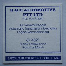 R & C AUTOMOTIVE PAUL ROGERS SUNNY HOLLOW LANE BACCHUS MARSH 674521 GOLF COASTER