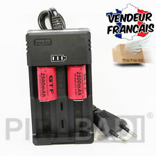 CHARGEUR RS-93 + 2 PILES ACCU RECHARGEABLE CR123A CR123 16340 3.7v 2500mAH