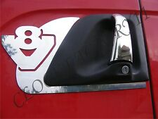 Set of 2 Handle Door decoration SCANIA V8 Mirror Stainless Steel Decoration